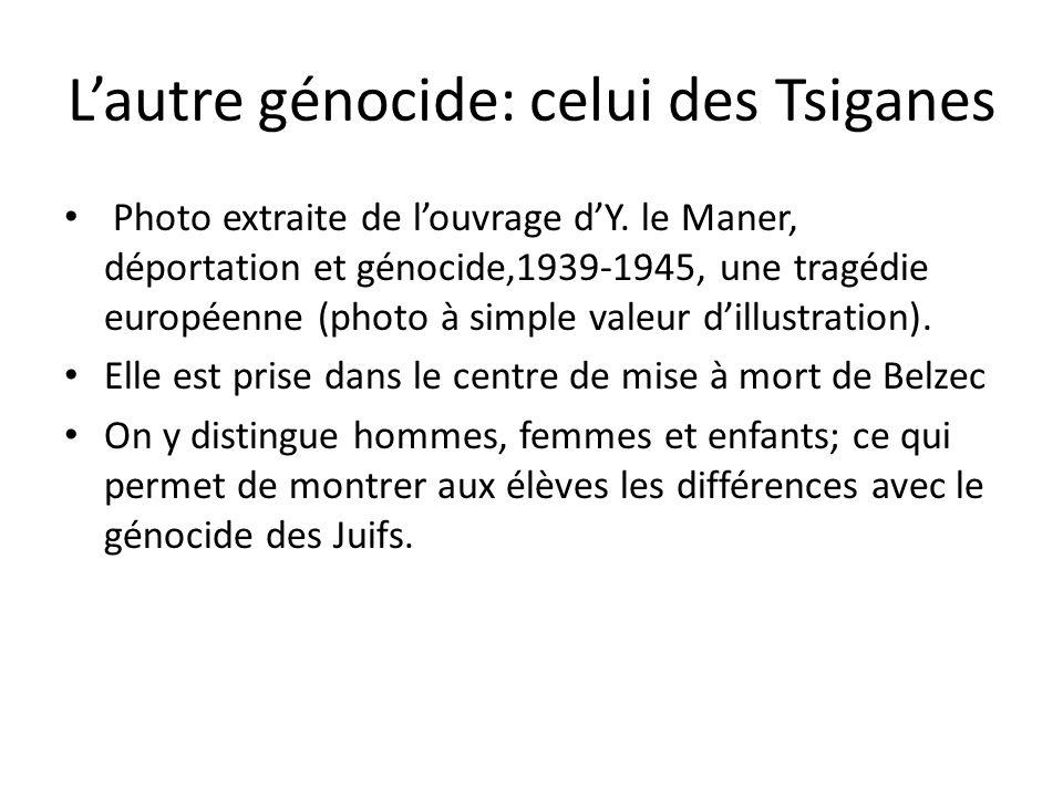 Photo extraite de louvrage dY. le Maner, déportation et génocide,1939-1945, une tragédie européenne (photo à simple valeur dillustration). Elle est pr