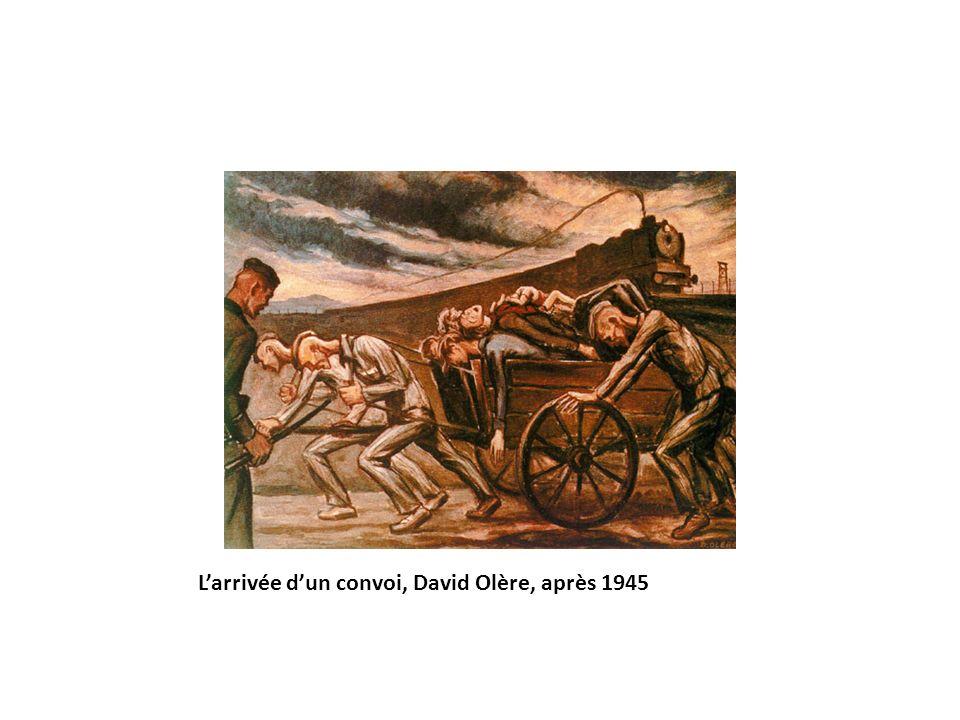 Larrivée dun convoi, David Olère, après 1945