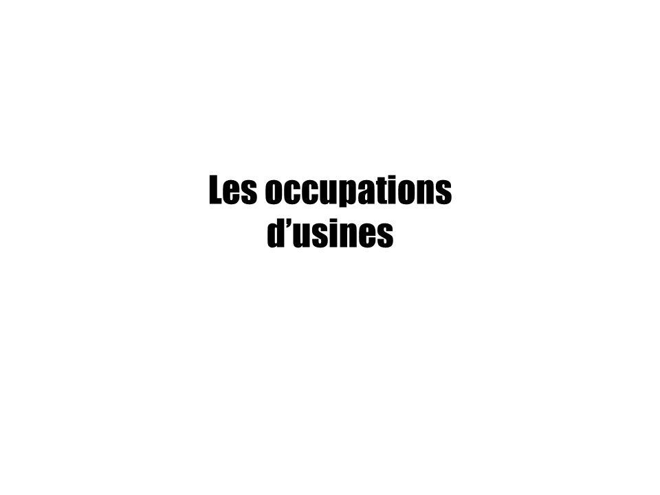 Les occupations dusines