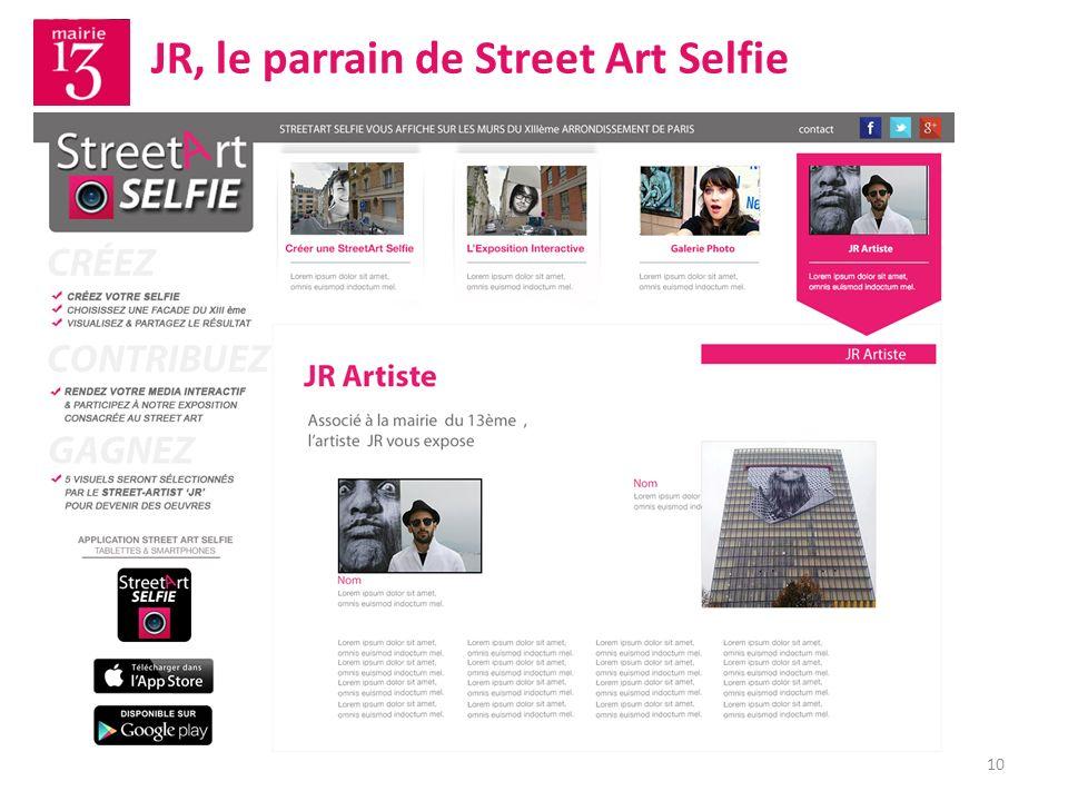 10 JR, le parrain de Street Art Selfie