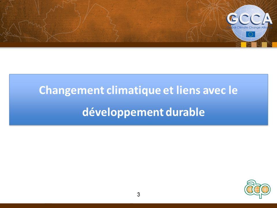 Changement climatique et liens avec le développement durable 3