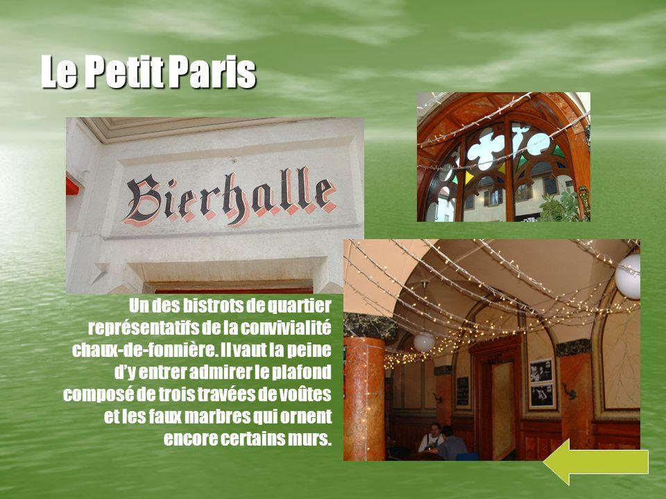 Temple-Allemand Deuxième temple construit à la Chaux- de-fonds, il rappelle limportance de la communauté alémanique immigrée au 19ème siècle.