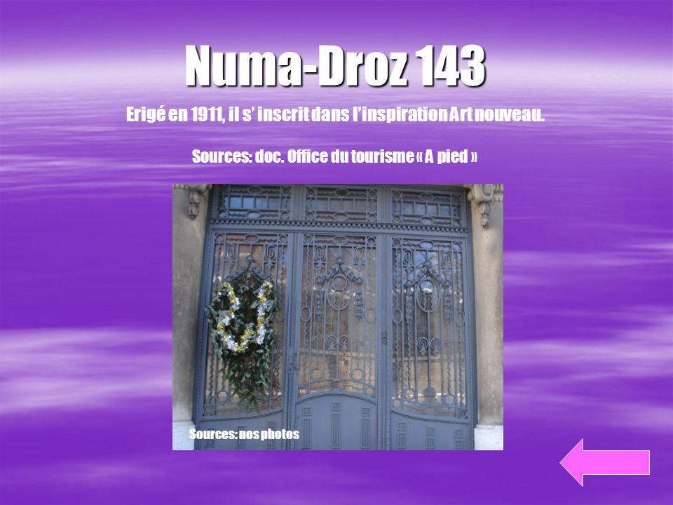Notre itinéraire Source : doc. office du tourisme « A pied » Tour Espacité Synagogue Villa Turque Nord 110 Doubs 137 Serre 38 Temple-Allemand Parc 1 D