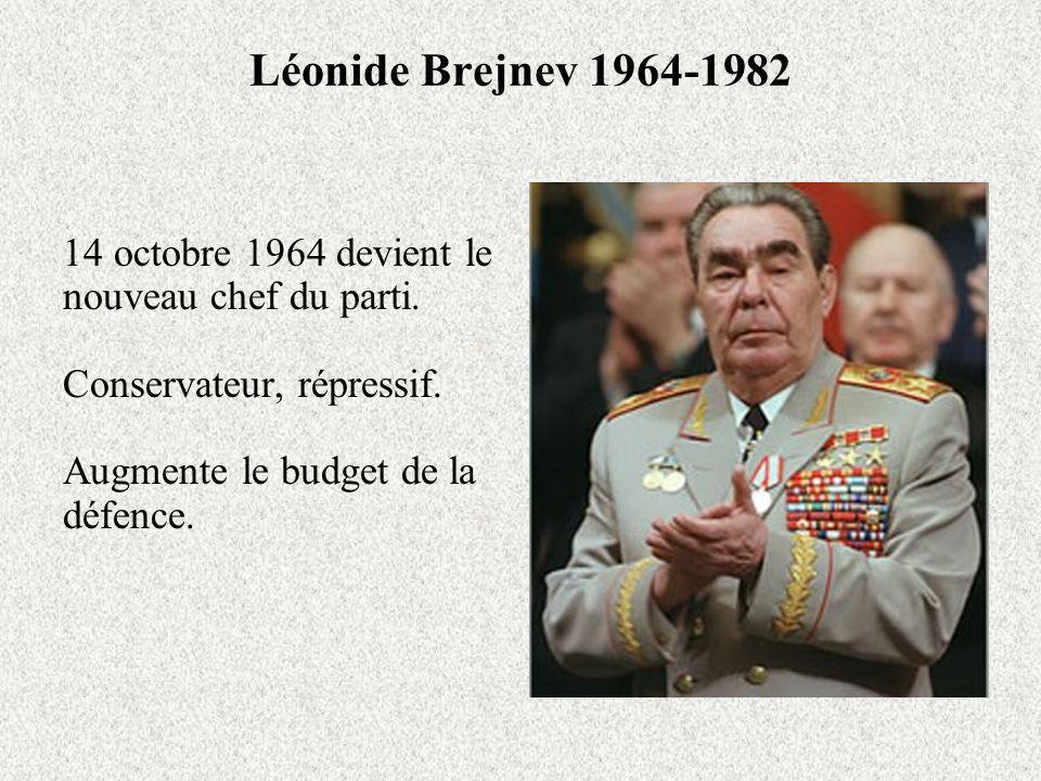 Léonide Brejnev 1964-1982 14 octobre 1964 devient le nouveau chef du parti.