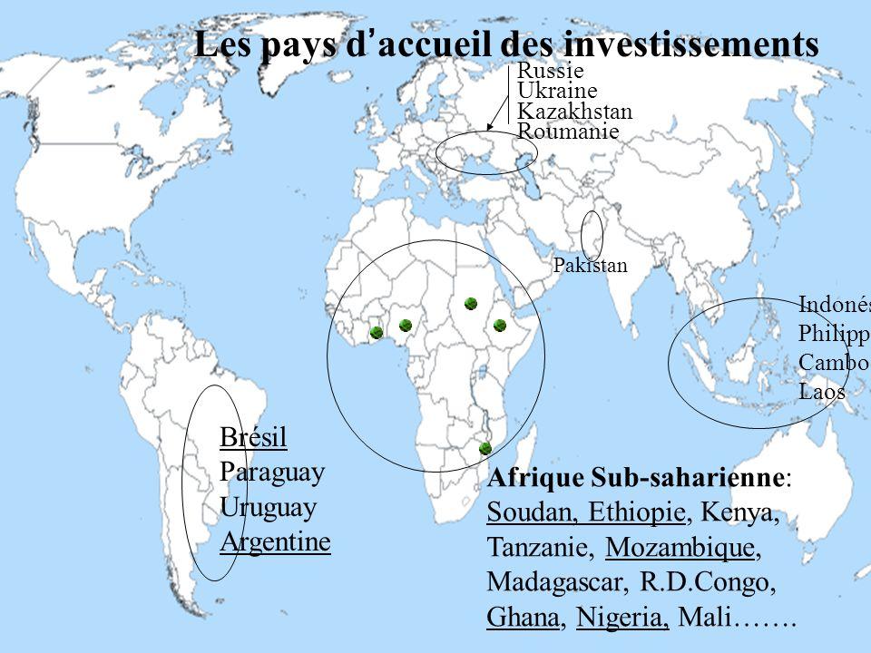 Interactif, AGRIMONDE Octobre 2013 27 Les pays daccueil des investissements Brésil Paraguay Uruguay Argentine Russie Ukraine Kazakhstan Roumanie Afriq