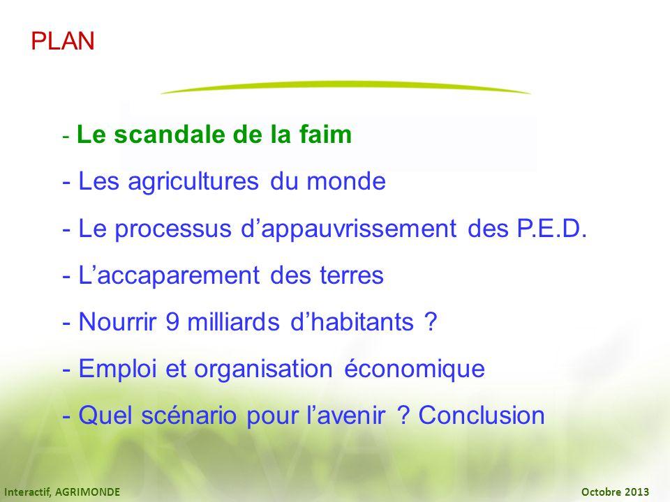 Interactif, AGRIMONDE Octobre 2013 LIBERALISME OU AGRICULTURE PROTEGEE .
