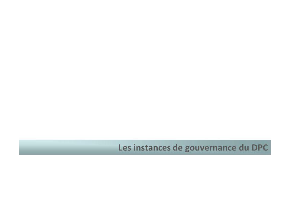 Les instances de gouvernance du DPC