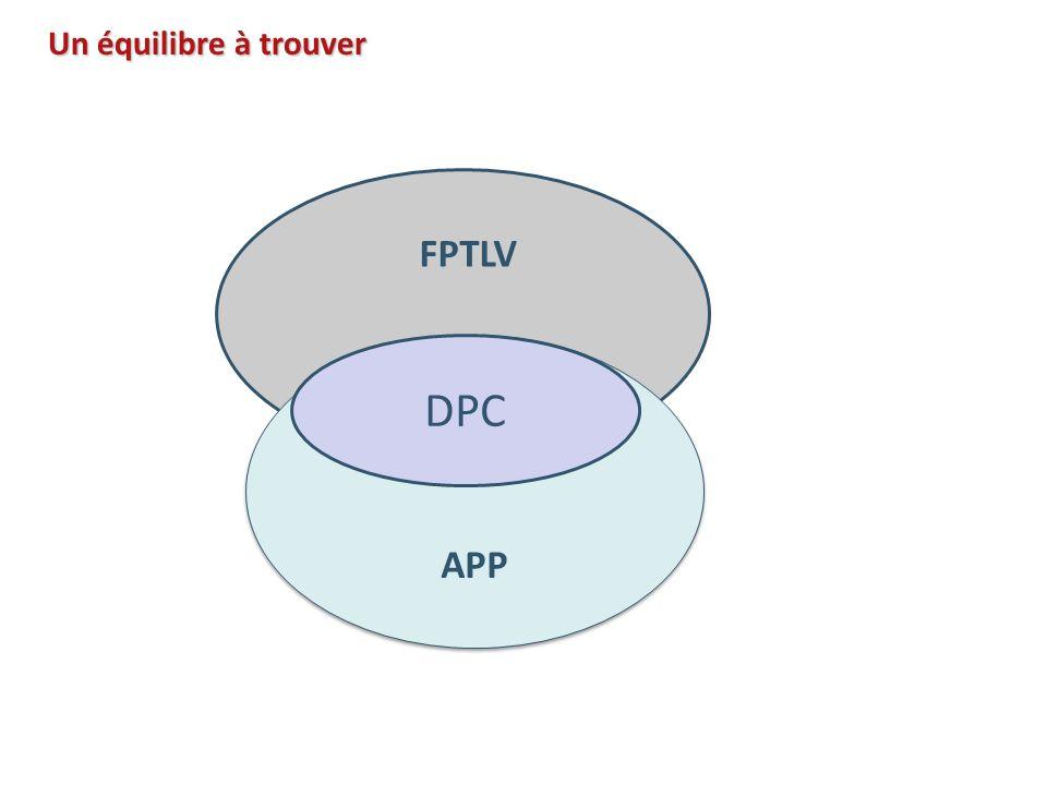 Un équilibre à trouver APP FPTLV DPC