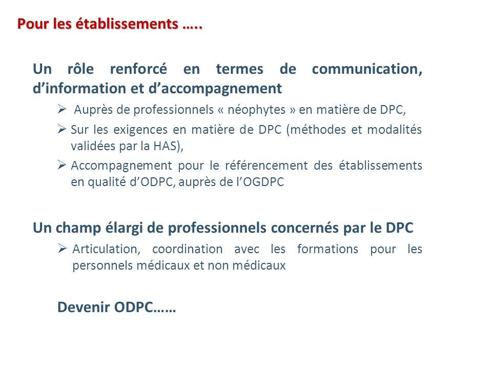 Un rôle renforcé en termes de communication, dinformation et daccompagnement Auprès de professionnels « néophytes » en matière de DPC, Sur les exigenc