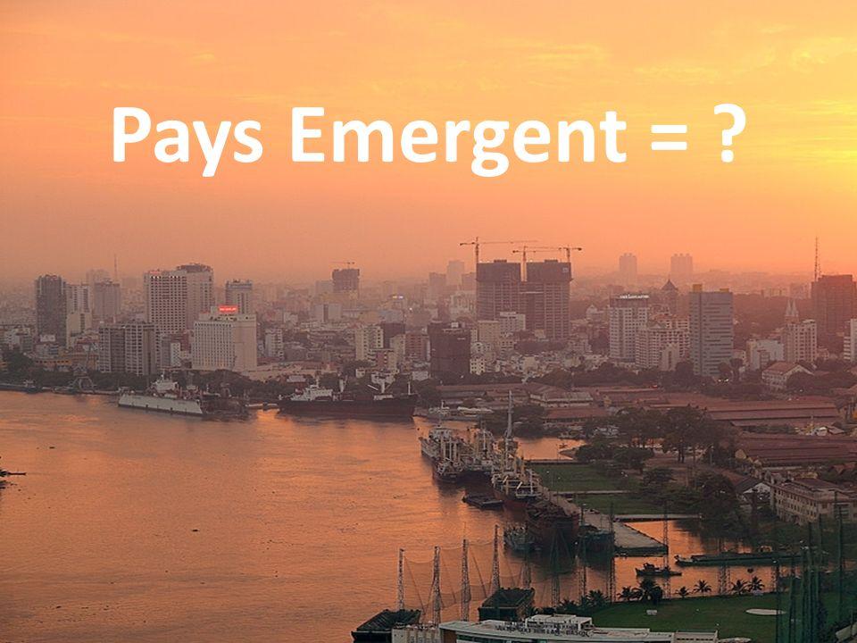 (Macro) Economique Financière (Emerging Market)
