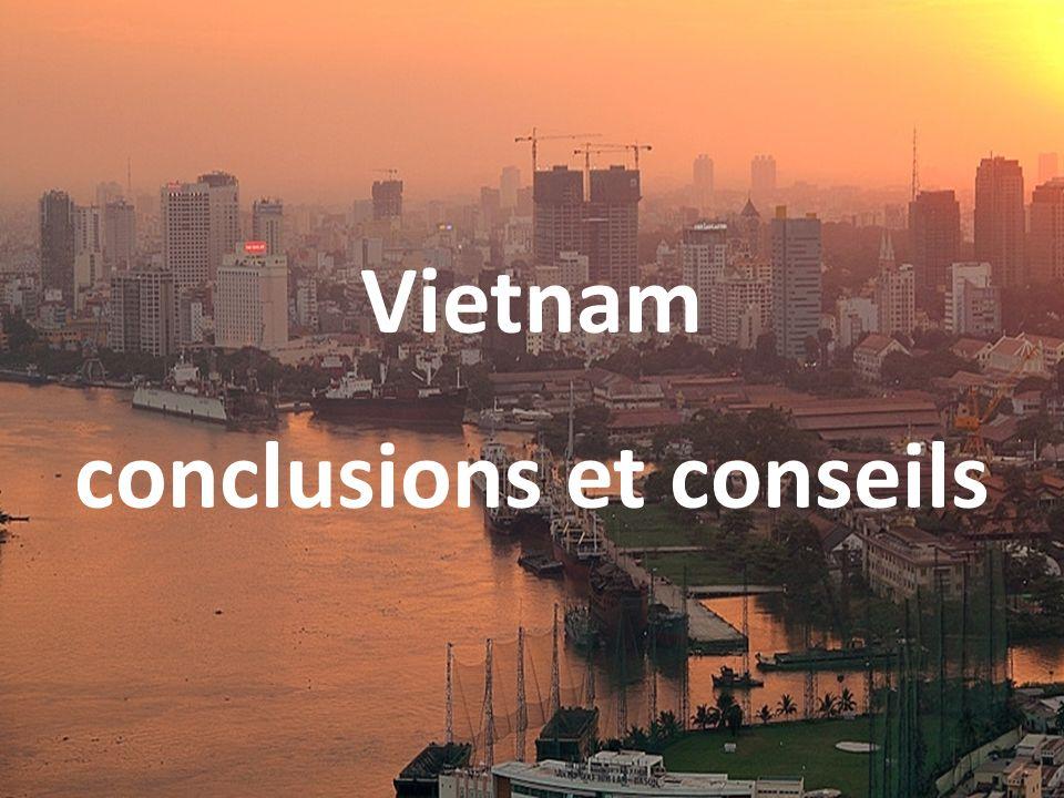 Vietnam conclusions et conseils