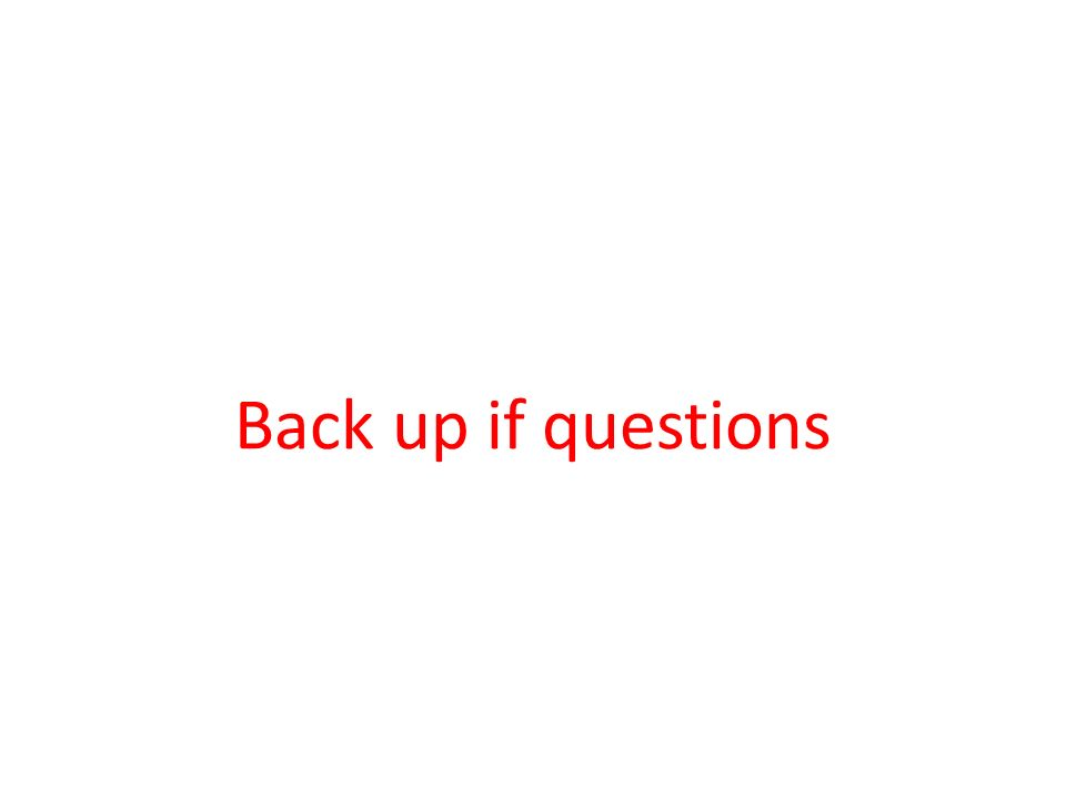 Back up if questions