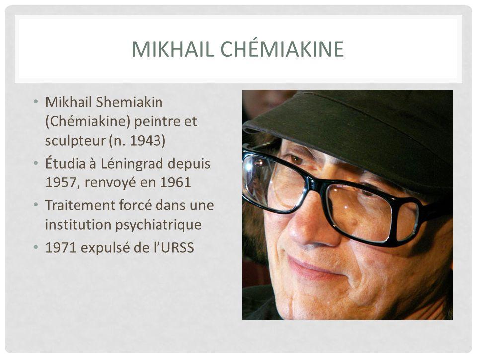 MIKHAIL CHÉMIAKINE Mikhail Shemiakin (Chémiakine) peintre et sculpteur (n.