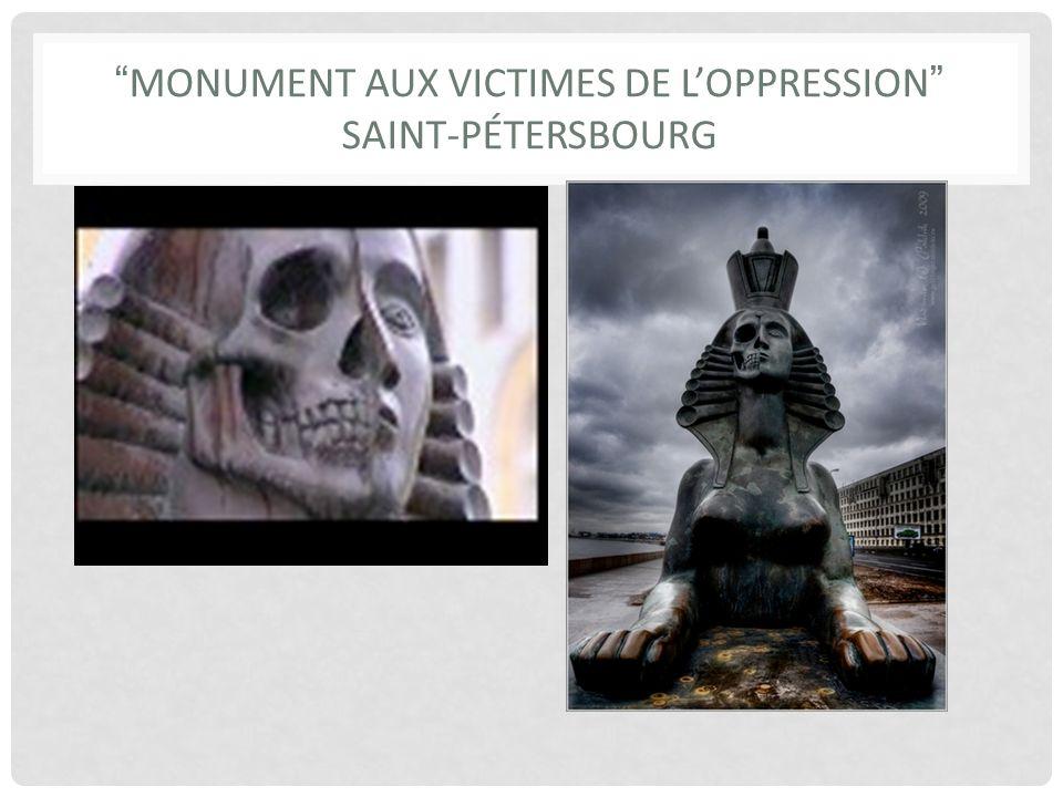 MONUMENT AUX VICTIMES DE LOPPRESSION SAINT-PÉTERSBOURG