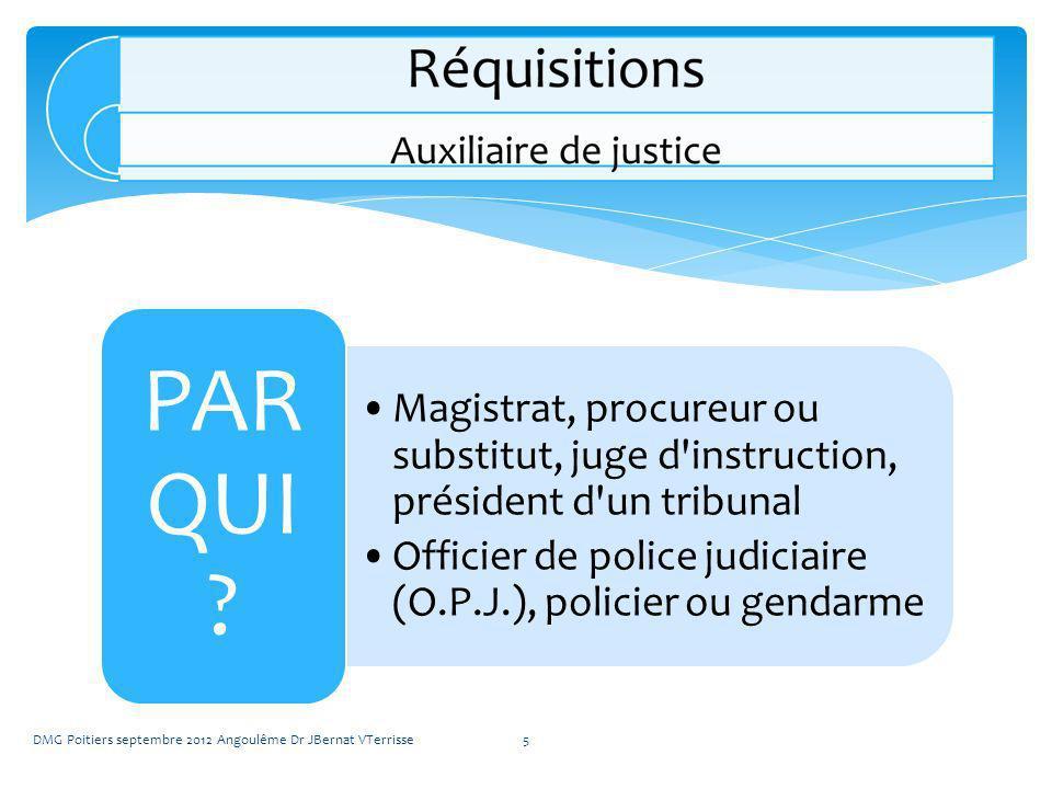 Magistrat, procureur ou substitut, juge d instruction, président d un tribunal Officier de police judiciaire (O.P.J.), policier ou gendarme PAR QUI .