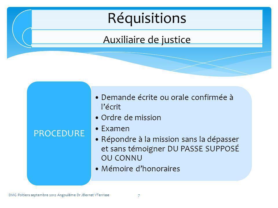 Demande écrite ou orale confirmée à lécrit Ordre de mission Examen Répondre à la mission sans la dépasser et sans témoigner DU PASSE SUPPOSÉ OU CONNU