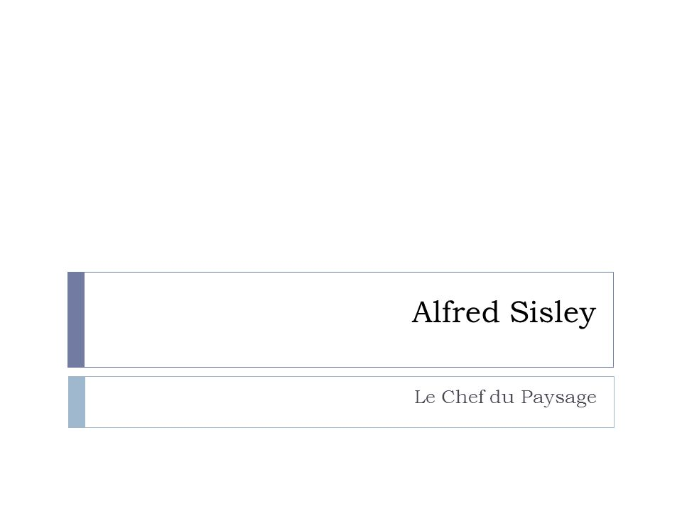 La Bibliographie « Alfred Sisley.» Google Images.