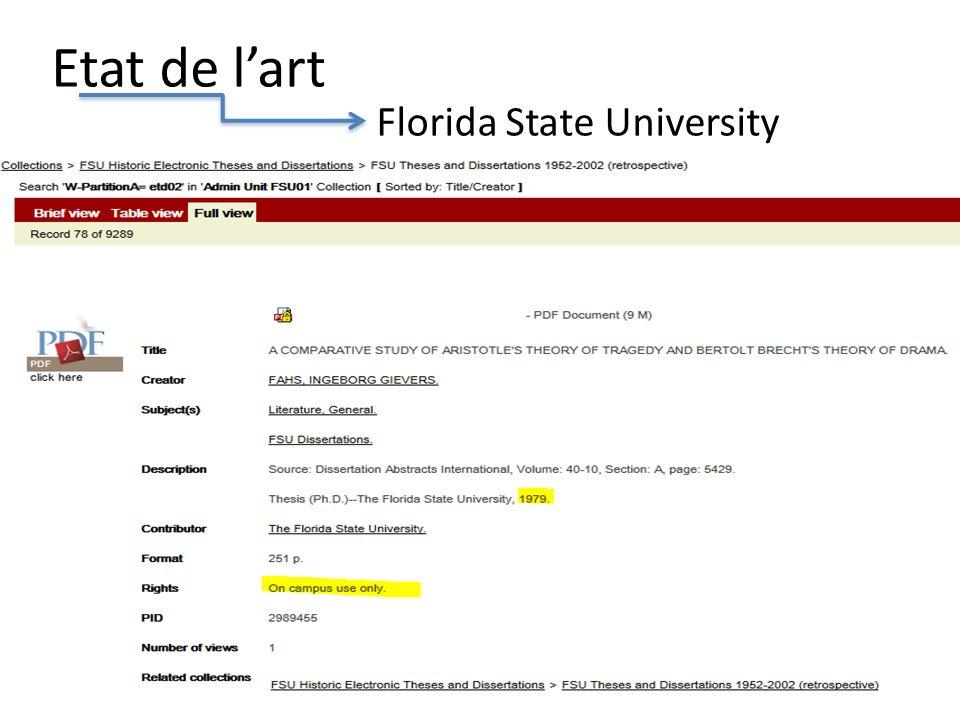 Etat de lart Florida State University 6