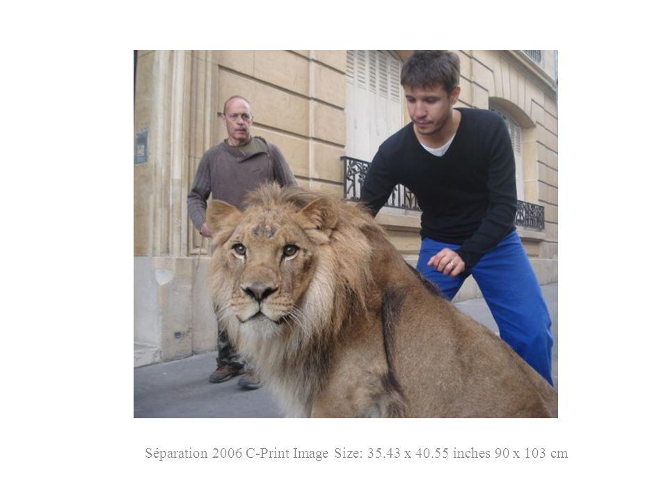 Séparation 2006 C-Print Image Size: 35.43 x 40.55 inches 90 x 103 cm