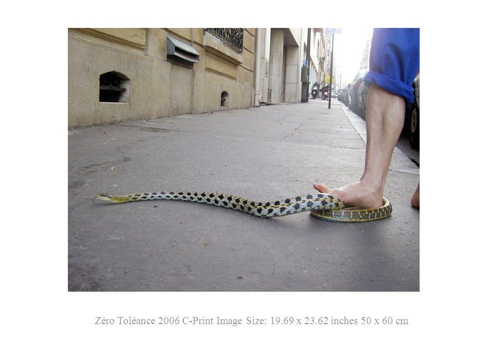 Zéro Toléance 2006 C-Print Image Size: 19.69 x 23.62 inches 50 x 60 cm