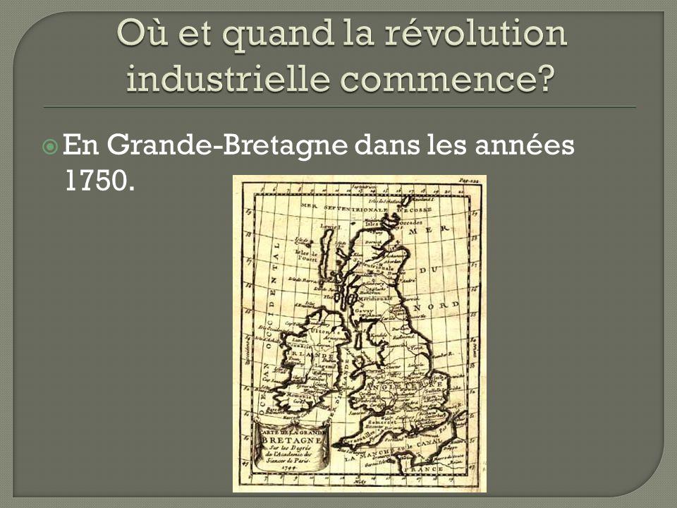 En Grande-Bretagne dans les années 1750.