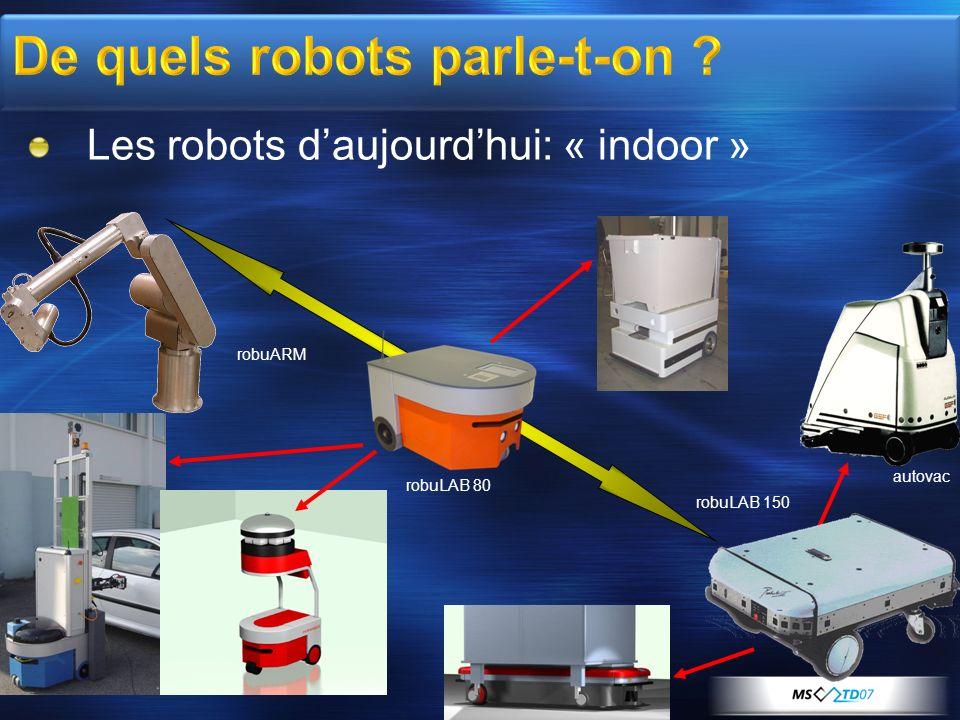 robuLAB 80 robuLAB 150 Les robots daujourdhui: « indoor » autovac robuARM