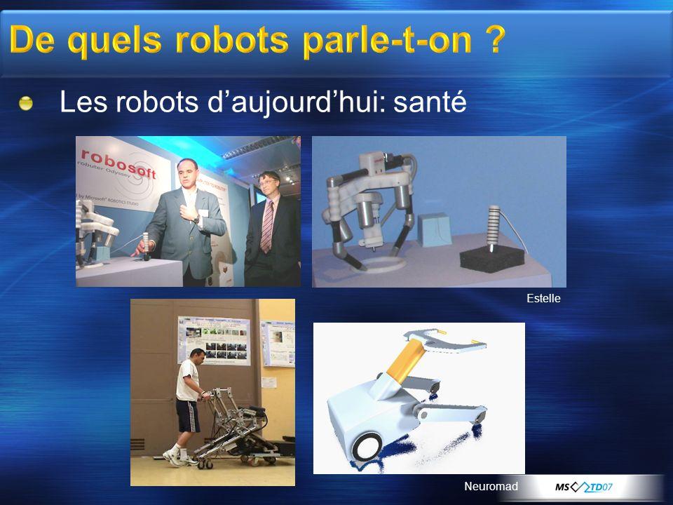Les robots daujourdhui: santé Estelle Neuromad