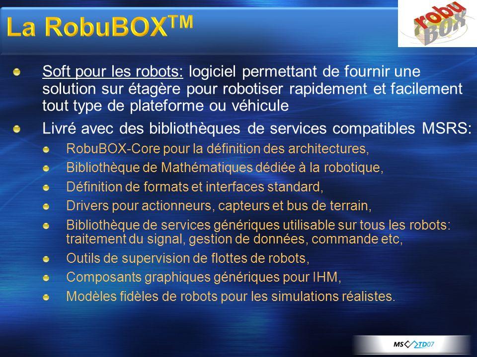 Soft pour les robots: logiciel permettant de fournir une solution sur étagère pour robotiser rapidement et facilement tout type de plateforme ou véhic