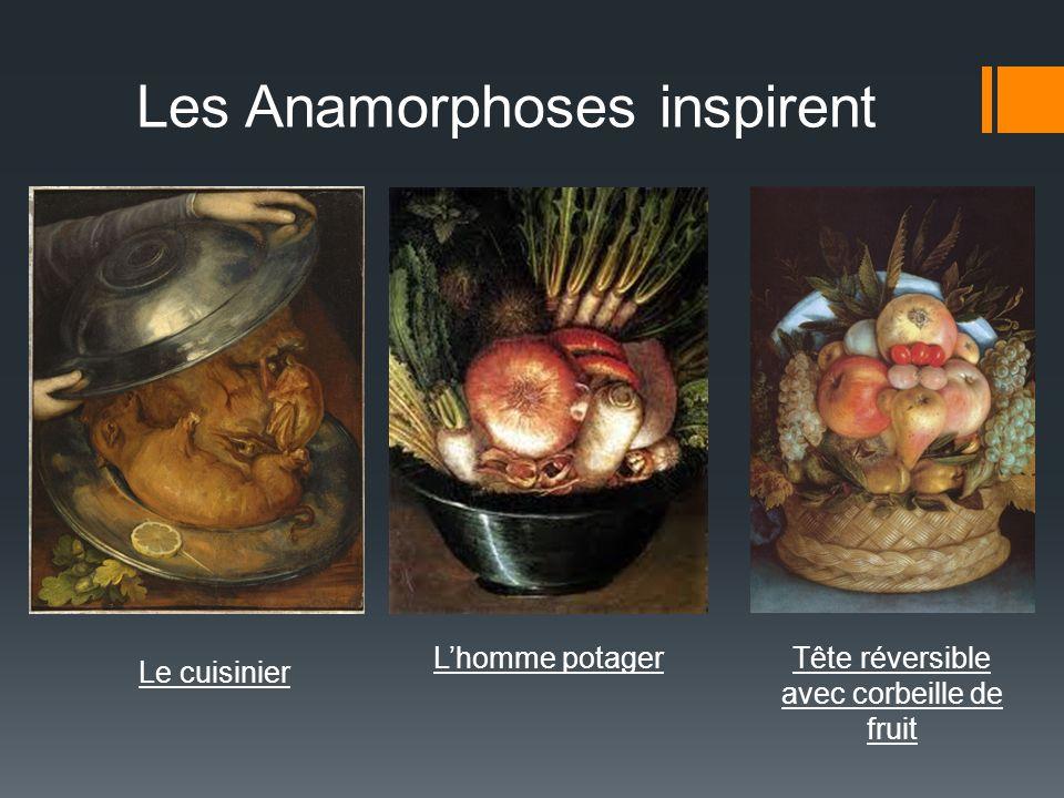 Tête réversible avec corbeille de fruit Lhomme potager Les Anamorphoses inspirent Le cuisinier