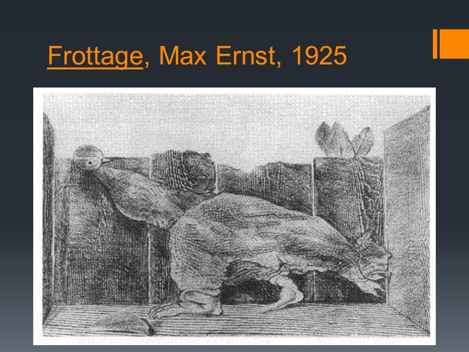Frottage, Max Ernst, 1925
