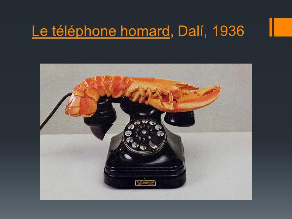 Le téléphone homard, Dalí, 1936