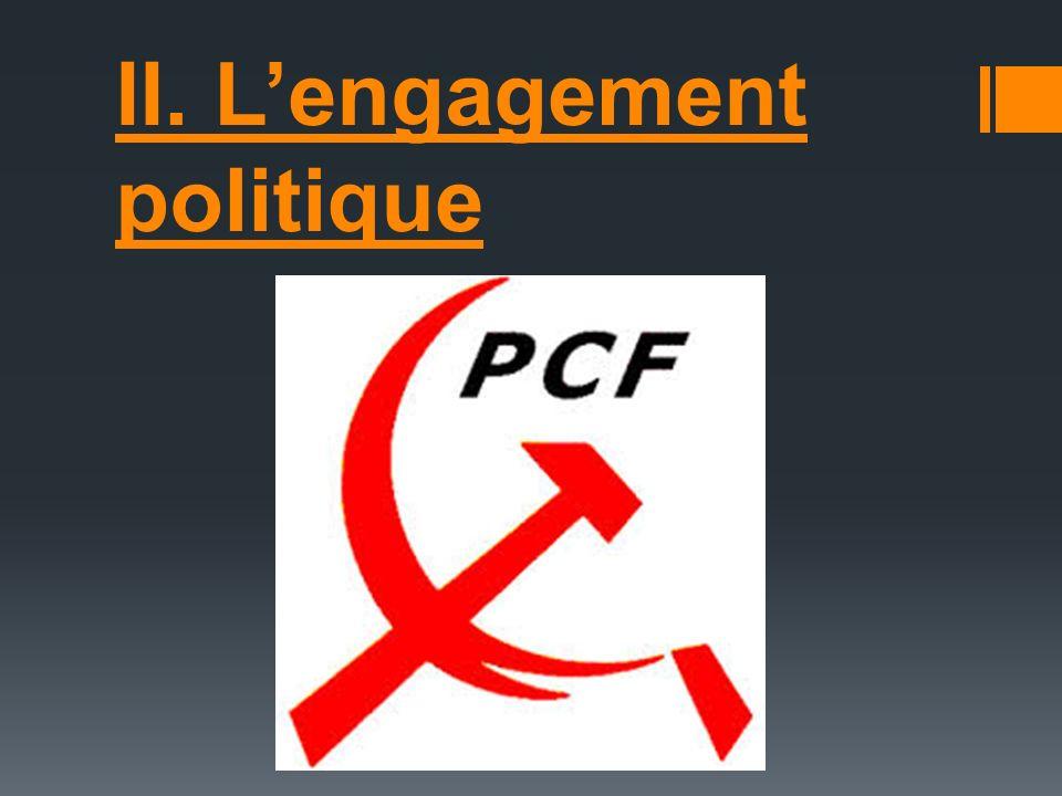 II. Lengagement politique