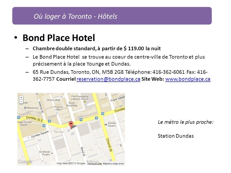 Bond Place Hotel – Chambre double standard, à partir de $ 119.00 la nuit – Le Bond Place Hotel se trouve au coeur de centre-ville de Toronto et plus p