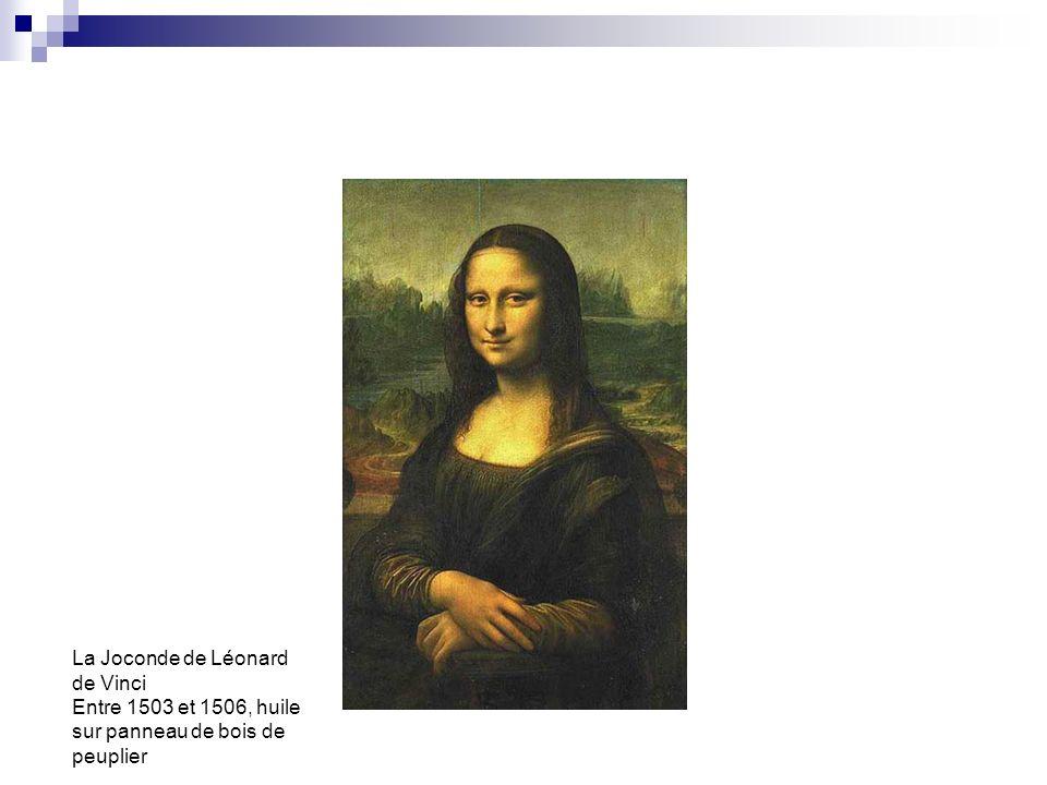 La Joconde de Léonard de Vinci Entre 1503 et 1506, huile sur panneau de bois de peuplier