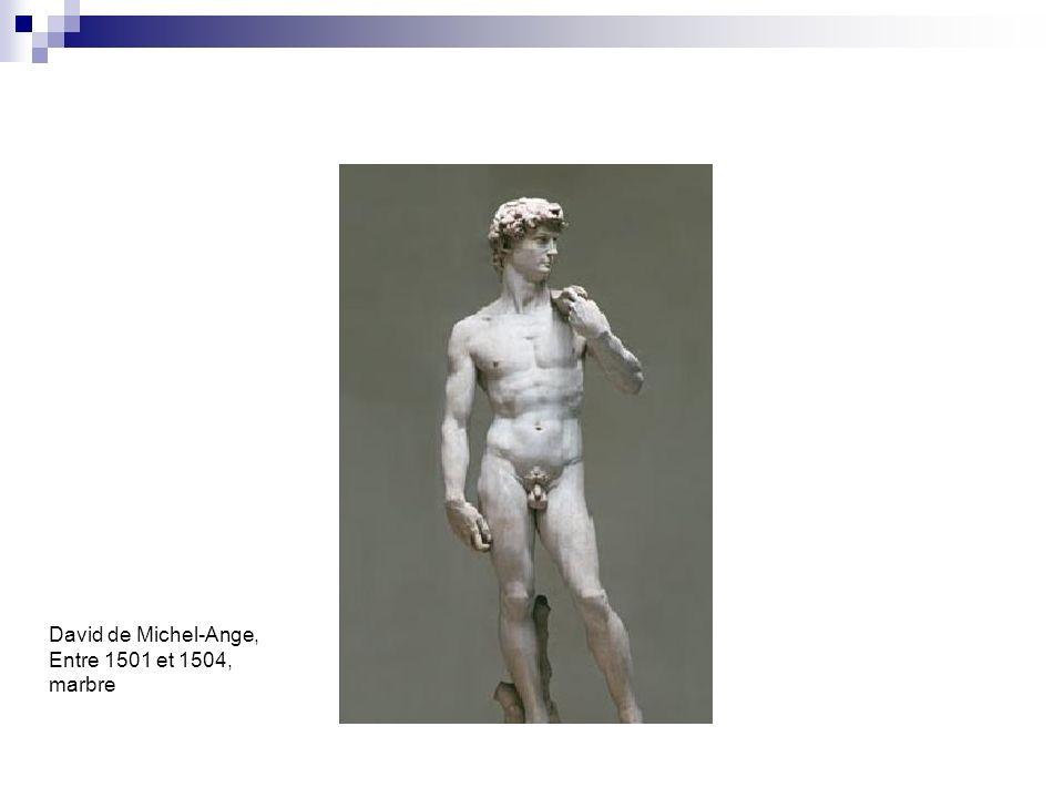 David de Michel-Ange, Entre 1501 et 1504, marbre