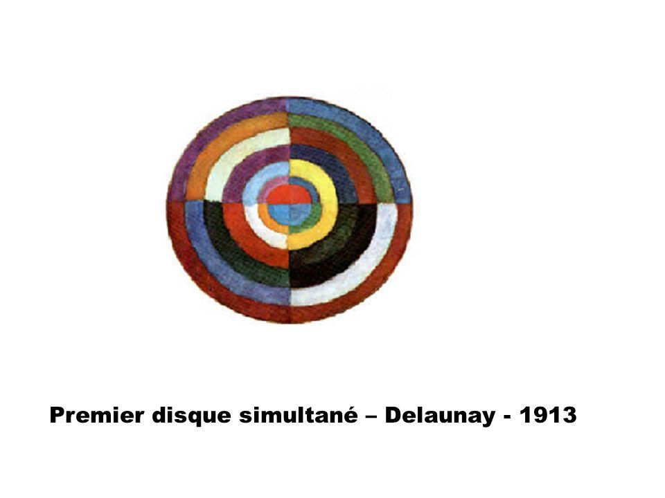 Premier disque simultané – Delaunay - 1913