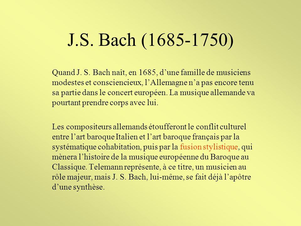 Le Choral Si le choral constitue pour lAllemagne un véritable socle de la mémoire collective, cest, en majeure partie par des musiciens qui ont tenu à sublimer le précepte luthérien : « La Musique est le langage de lâme ».