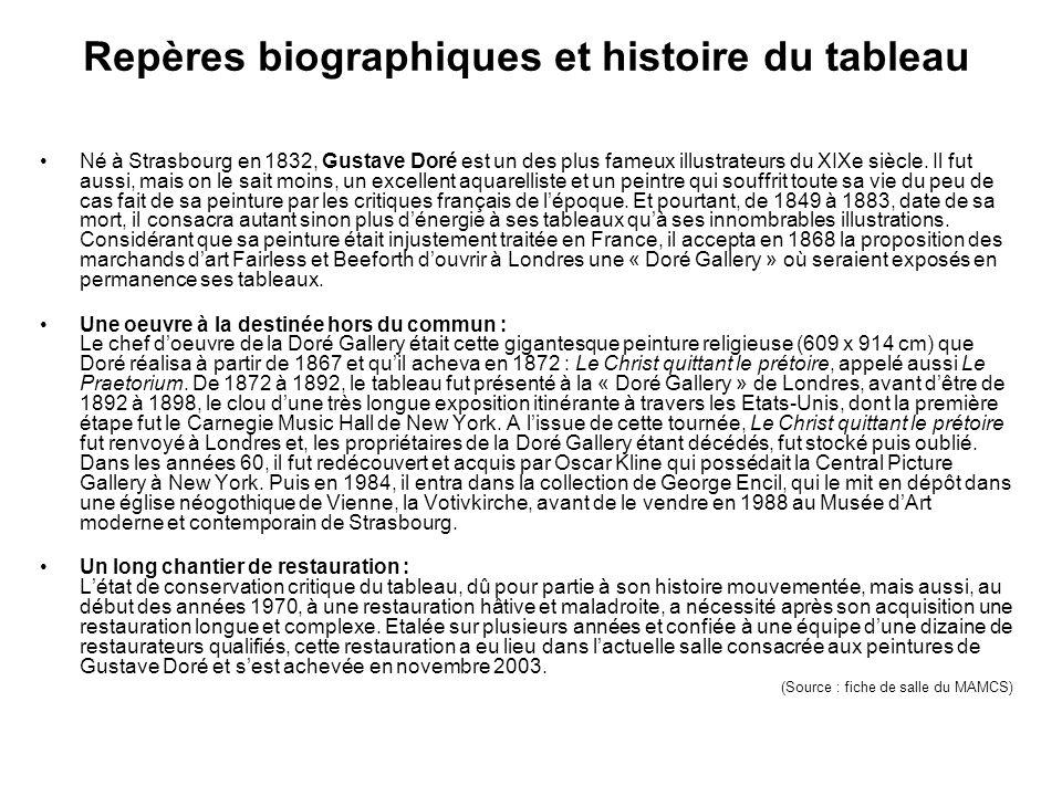 Repères biographiques et histoire du tableau Né à Strasbourg en 1832, Gustave Doré est un des plus fameux illustrateurs du XIXe siècle.
