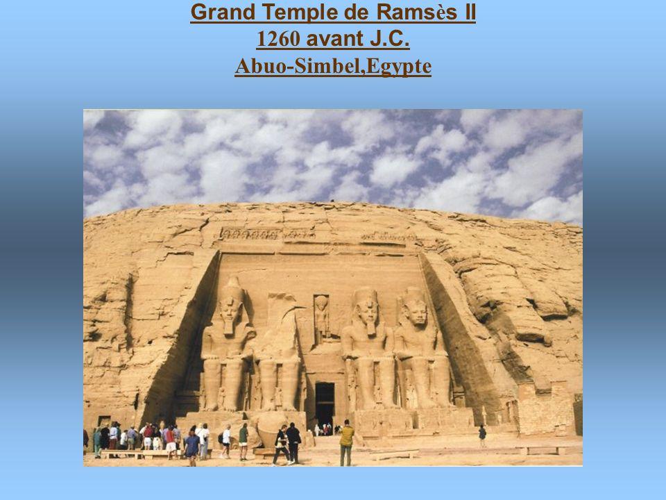 Petit temple de N é fertari 1260 avant J.C. Abuo-Simbel,Egypte