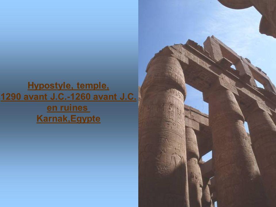 Colosses de Memnon 18 m de haut.