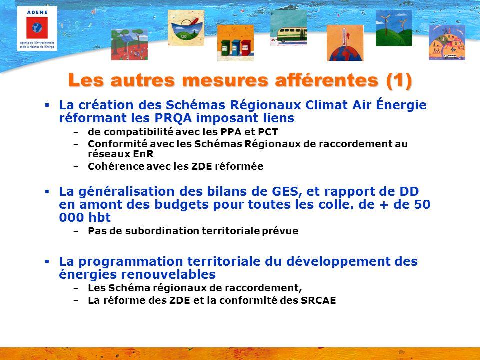 Les autres mesures afférentes (1) La création des Schémas Régionaux Climat Air Énergie réformant les PRQA imposant liens –de compatibilité avec les PP