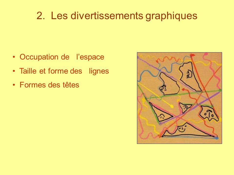 2. Les divertissements graphiques Occupation de lespace Taille et forme des lignes Formes des têtes