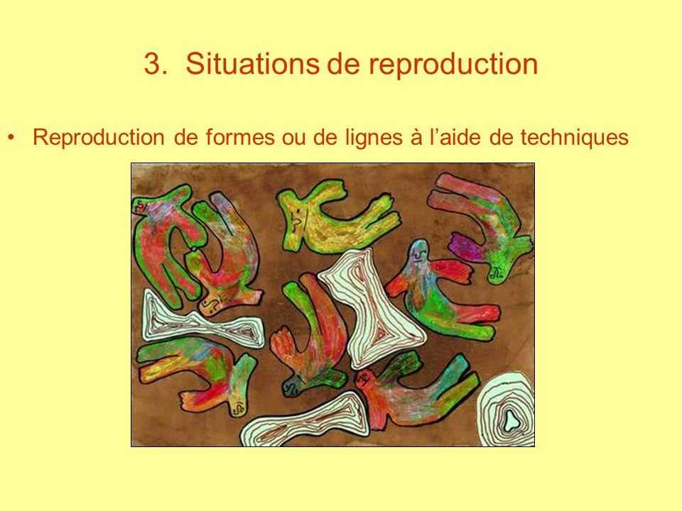 3. Situations de reproduction Reproduction de formes ou de lignes à laide de techniques