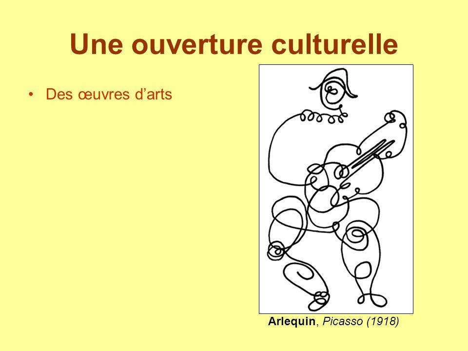 Une ouverture culturelle Des œuvres darts Arlequin, Picasso (1918)