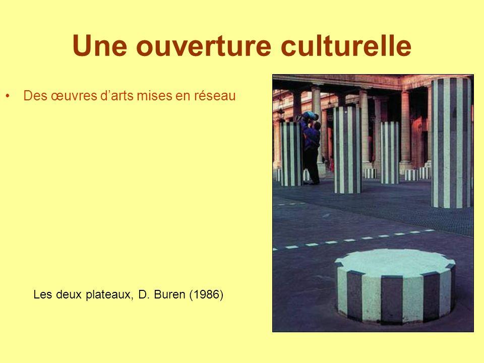 Une ouverture culturelle Des œuvres darts mises en réseau Les deux plateaux, D. Buren (1986)