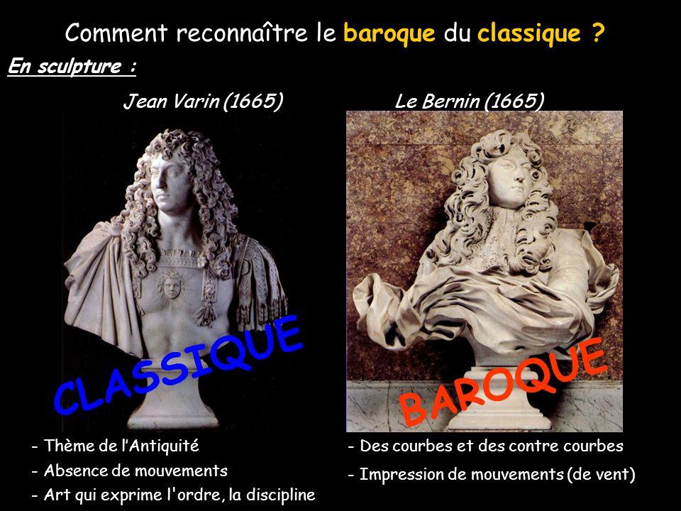 Comment reconnaître le baroque du classique ? - Des courbes et des contre courbes - Impression de mouvements - Des lignes droites - Perpendiculaires -