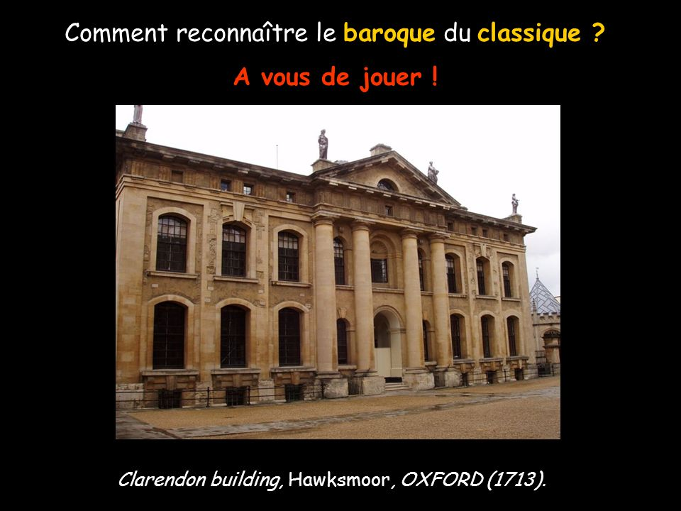 Comment reconnaître le baroque du classique ? A vous de jouer ! Portail palais Clam-Gallas, PRAGUE. Portail Hôtel particulier, POITIERS.
