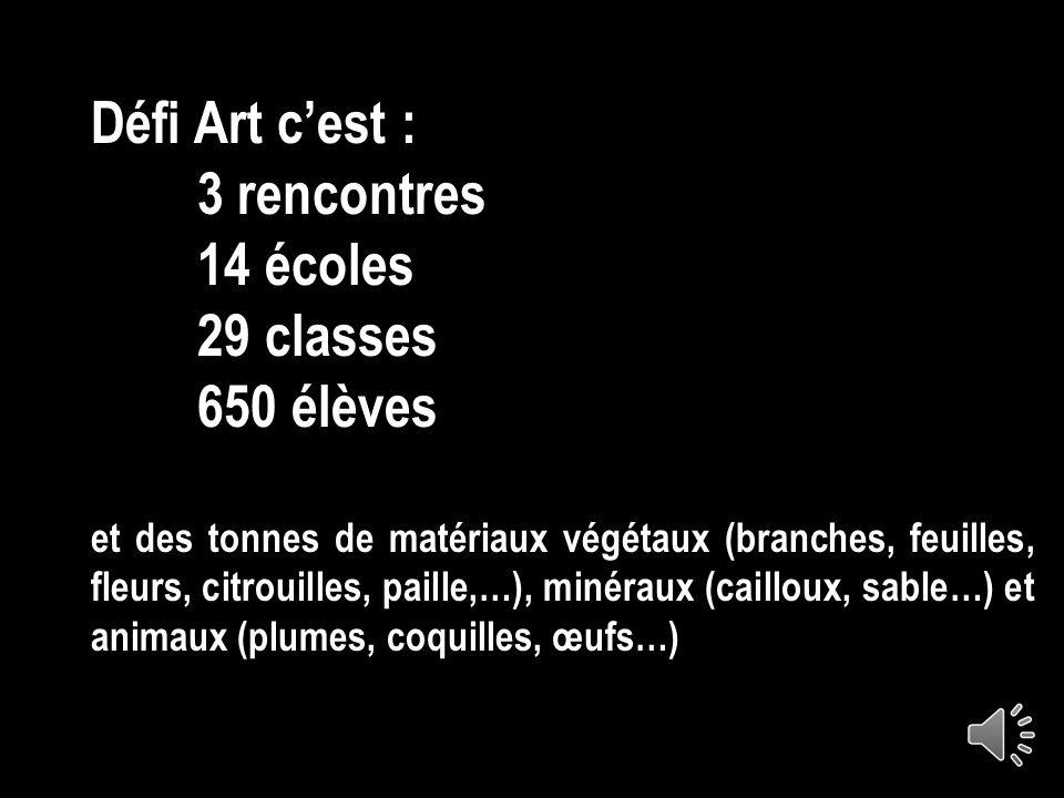 Défi Art 2012 Lignes et formes du Land Art à linstallation Créer avec des éléments naturels Circonscriptions de Dieppe-Est et Dieppe-Ouest