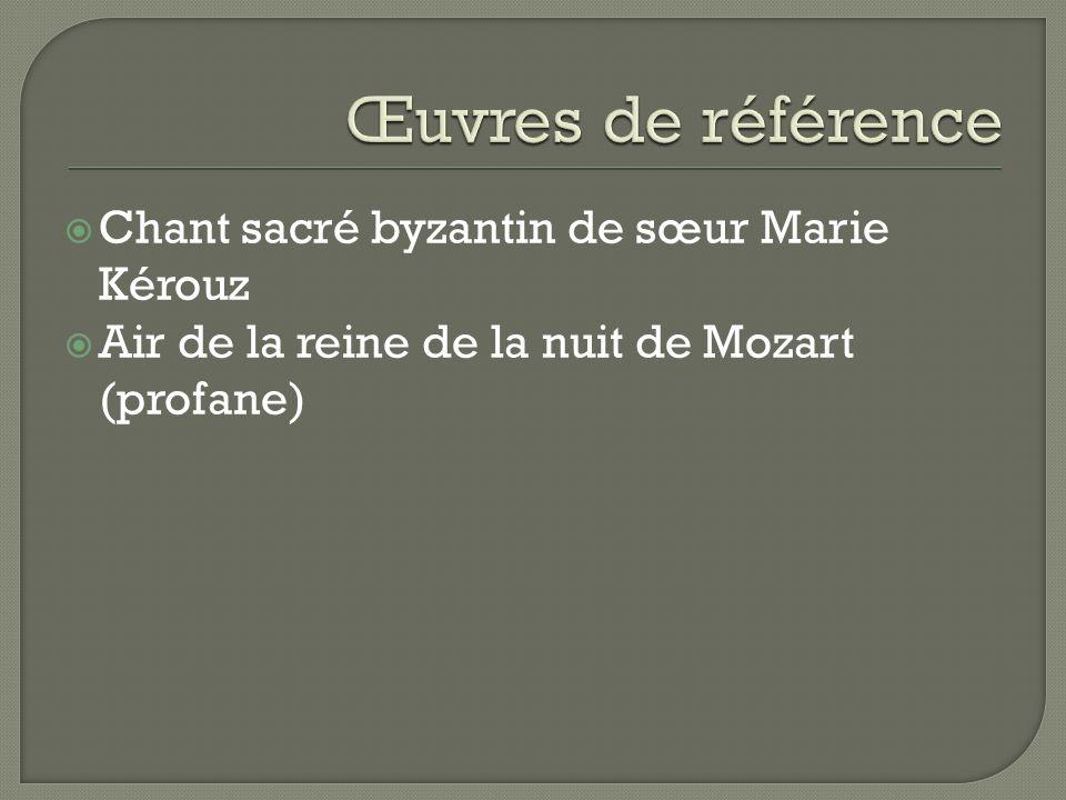 Chant sacré byzantin de sœur Marie Kérouz Air de la reine de la nuit de Mozart (profane)