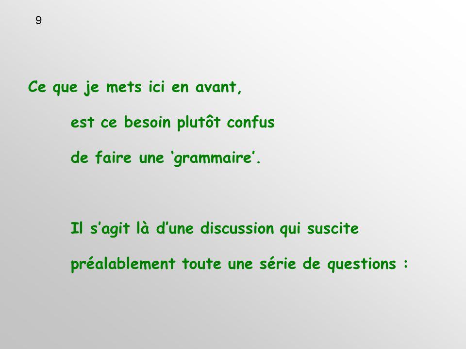 Quest-ce donc exactement que la grammaire dune langue.